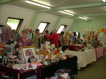 Stallholders at Betws-y-Coed Antique Fair